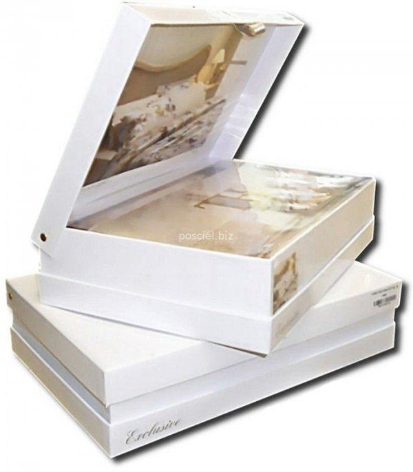 Ekskluzywna pościel na prezent Tivolyo Arian biała z koronką