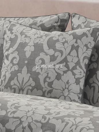 Pościel bawełniana żakardowa Sofia szara 160x200
