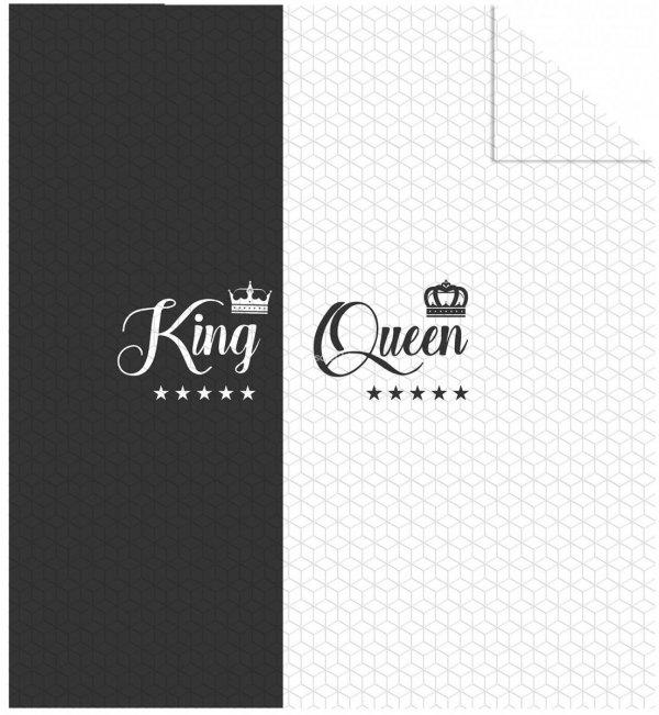 Nowoczesna narzuta z mikrofibry King Queen 220x240