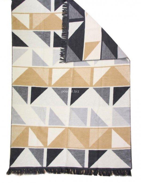 Koc kolorowe trójkąty 150x200