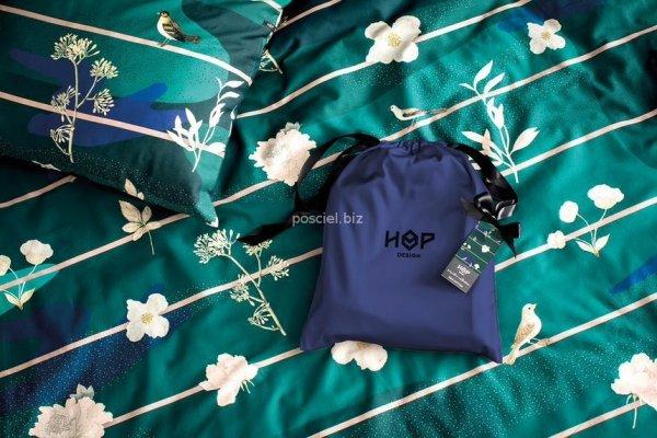 Hop pościel satynowa Botanic garden night 140x200