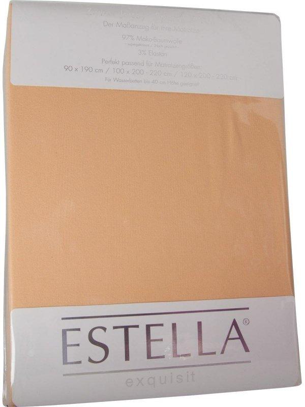 Prześcieradło zwirn-jersey z gumką Estella sand