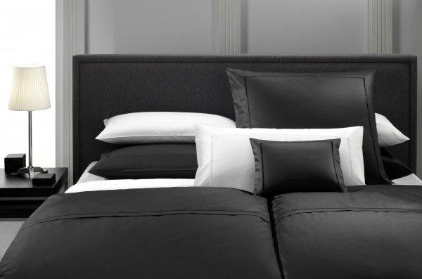 Elegante pościel bawełniana egipska czarna i biała 200X220