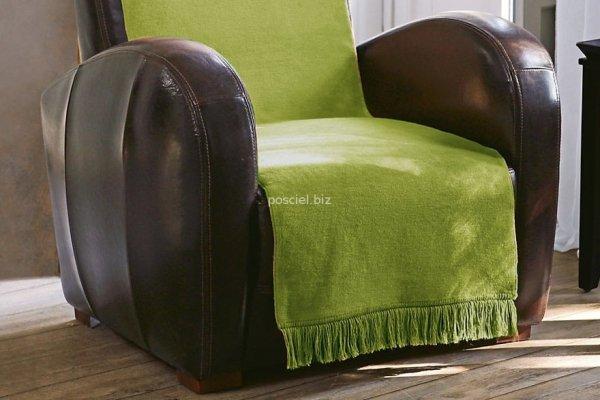 Moca desgin koc jednolity oliwka na fotel
