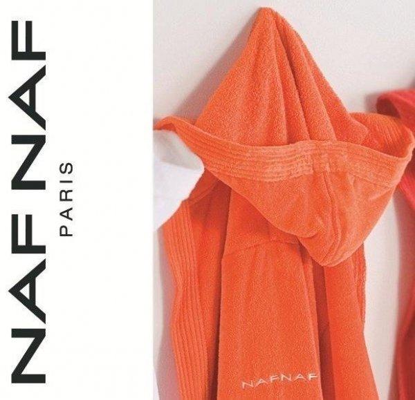 Elegancki szlafrok unisex Naf Naf pomarańczowy  L