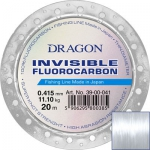 Fluorocarbon DRAGON INVISIBLE 20m 0.55 mm/15.40 kg  clear