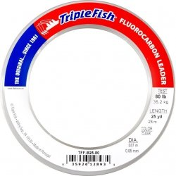 A.F.W. przypon fluorocarbonowy TRIPLE FISH 80 lb - 0.95 mm 25 yds clear