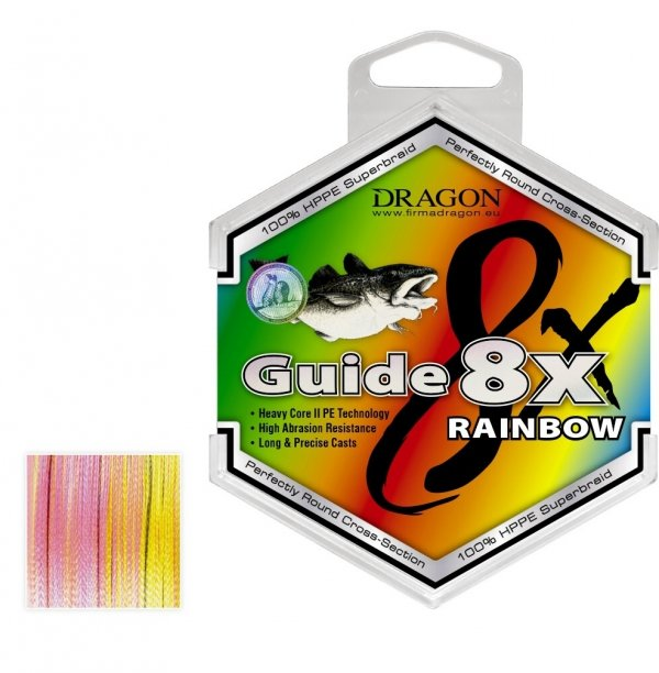 GUIDE 8X RAINBOW 250m 5-kolorowa 0.20 mm/17.20 kg