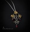 gotycki naszyjnik z różami Krwawa Trójca - talizman: Szczęśliwe życie