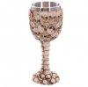 kielich ozdobiony czaszkami - gotycki puchar do wina Czaszki