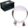 szklana kula kryształowa duża 15 cm do wróżenia, ze szklaną podstawką