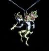 naszyjnik Pan - Faun, z serii: Bestiariusz, biżuteria magiczna i gotycka