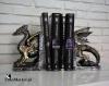 Dracus Machina podpórki do książek lub płyt ze smokami steampunk - Nemesis Now