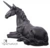 Czarny Jednorożec - duża figura w stylu fantasy do domu lub ogrodu