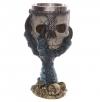 kielich dekoracyjny - smocza łapa trzymająca czaszkę