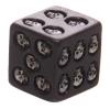 czarne kostki do gry z czaszkami - kości do grania Czaszki