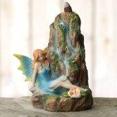 Elf przy Wodospadzie - podstawka na kadzidła zwrotne + GRATIS kadzidełka