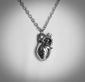 Serce anatomiczne 3D - wisior