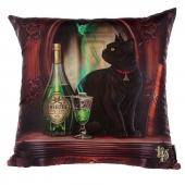 Kot i Absyntowa Wróżka - poduszka dekoracyjna