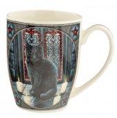 Kot w Magicznym Kręgu - porcelanowy kubek z nadrukiem projekt: Lisa Parker