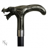 Dragon's Roar - elegancka metalowa laska do podpierania ze smokiem