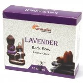 Lawenda - kadzidełka stożkowe typu backflow op. 10 szt