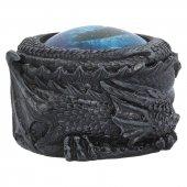Oko Lodowego Smoka - okrągła szkatułka