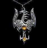 Feniks z Avalonu - naszyjnik, talizman Duchowej Przemiany