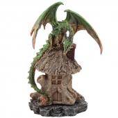 Zielony Smok i Chatka Czarownicy - podstawka na kadzidła stożkowe