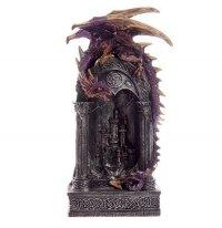 Smok Strażnik Bramy - figurka fantasy z lampką LED