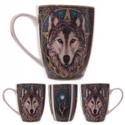 Magiczny Wilk - porcelanowy kubek