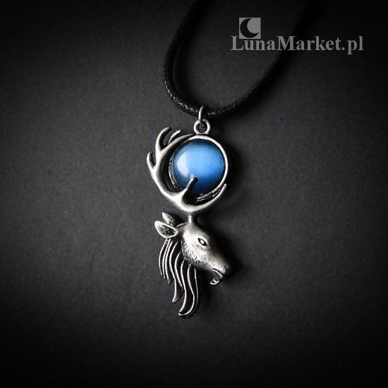 """magiczny naszyjnik """"Księżycowy Jeleń"""", talizman: Mistyczna Siła"""