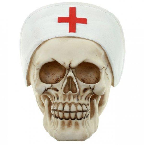 figurki czaszek - figurka czaszka pielęgniarka