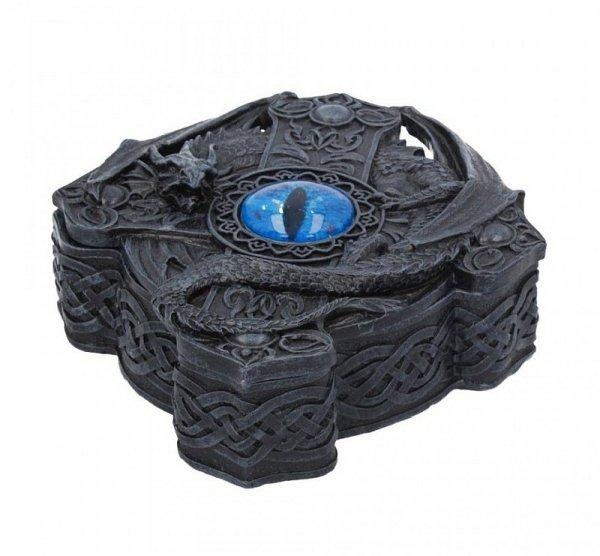 Smocze Oko - szkatułka w kształcie celtyckiego krzyża