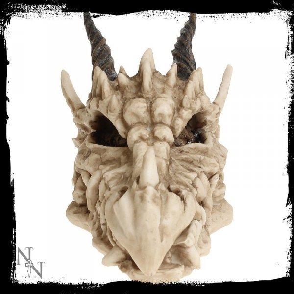 gadżety i prezenty w stylu fantasy - otwierana szkatułka czaszka Smoka