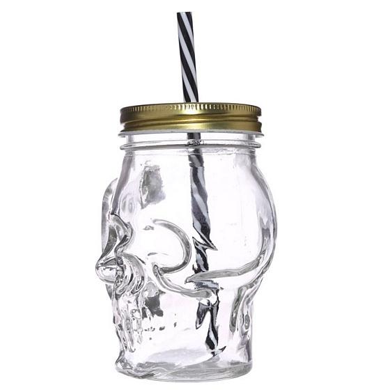 kubek - słoik czaszka