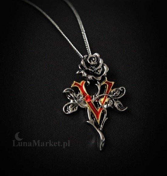 gotycki naszyjnik Róża Wampira - talizman: Opanowanie uczuć i pragnień