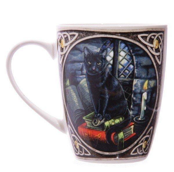 kubek z czarnym kotem - magiczny kot czarownicy, kubeczek projektu Lisy Parker