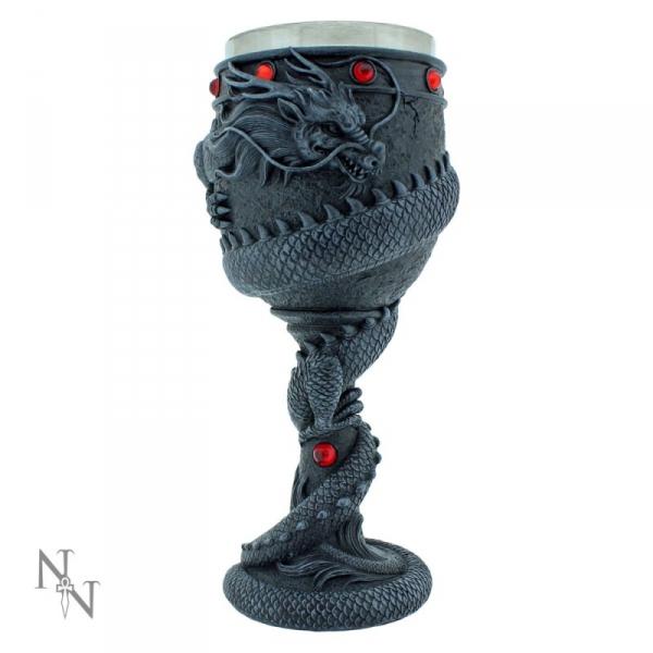 kielich dekoracyjny opleciony przez smoka - Dragon Coil