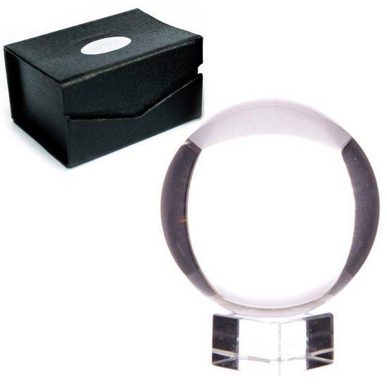 szklana kula kryształowa do wróżenia, rozmiar 10 cm, z podstawką