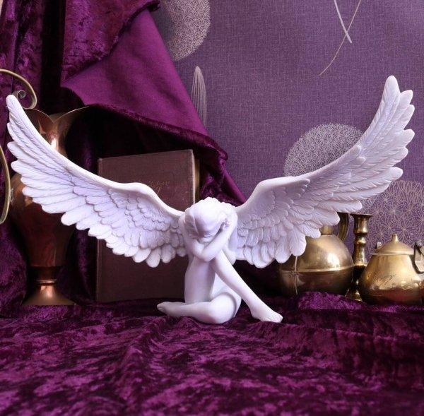 """duża figurka dekoracyjna gotycki Biały Anioł """"Angels Sympathy"""" Nemesis Now"""