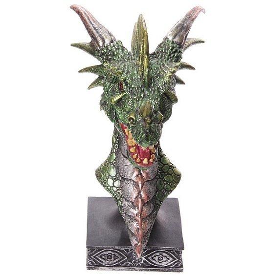 Głowa Zielonego Smoka duża - figurka fantasy