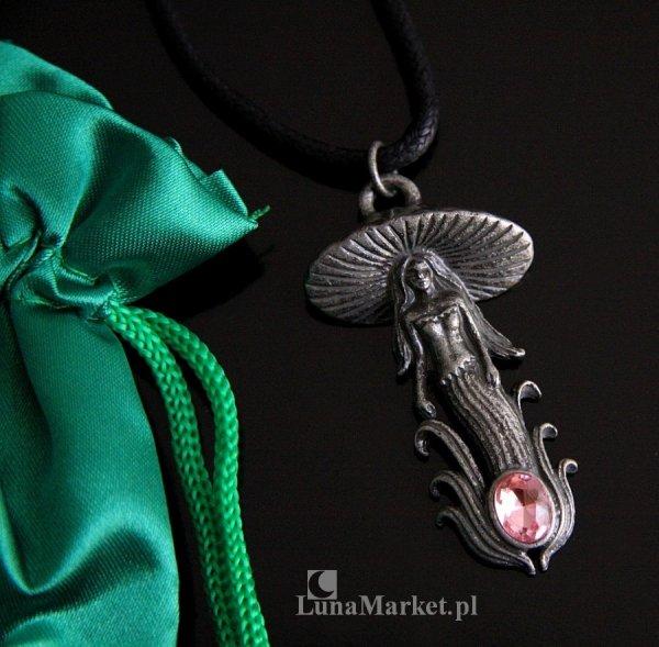 naszyjnik Grzybowa Wróżka Elf Mushroom Fairy - magiczny wisiorek, talizman: transformacja i oświecenie