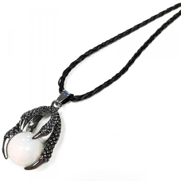 naszyjnik Opalit w Łapach Smoka - wisiorki z kamieniami naturalnymi