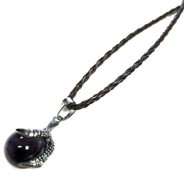 naszyjnik z Ametystem w Smoczej Łapie - wisiorek z kamieniem naturalnym
