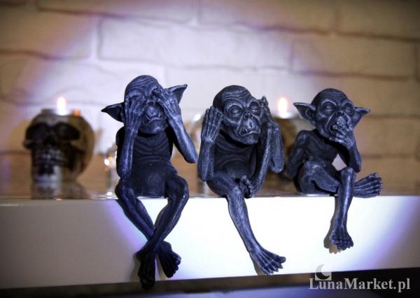 Trzy Mądre Gobliny - zestaw figurek w stylu fantasy | LunaMarket