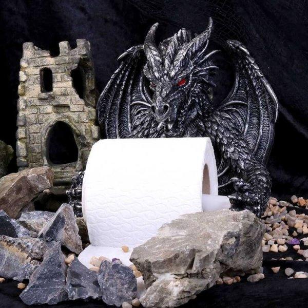 Smok Obsidian - uchwyt, wieszak na papier toaletowy do WC