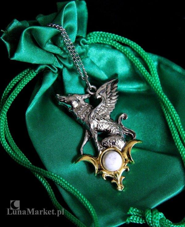 """naszyjnik """"Barghest"""" biżuteria gotycka i magiczna, talizman - Wiedza tajemna"""