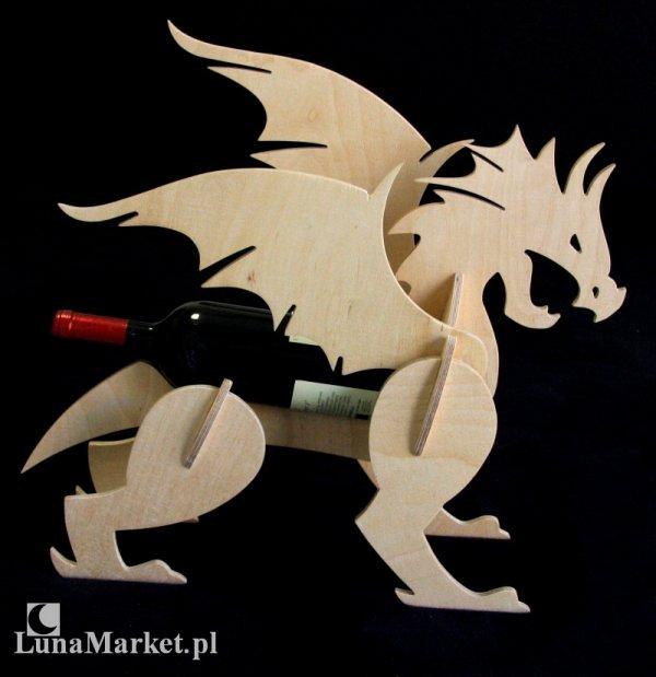 Jasny Smok - drewniany stojak na wino - LunaMarket
