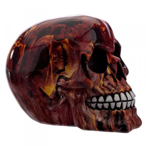 Czaszka w Płomienie - figurka dekoracyjna w kształcie czaszki